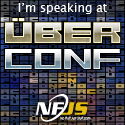 """I'm speaking at Uber Conf"" banner"